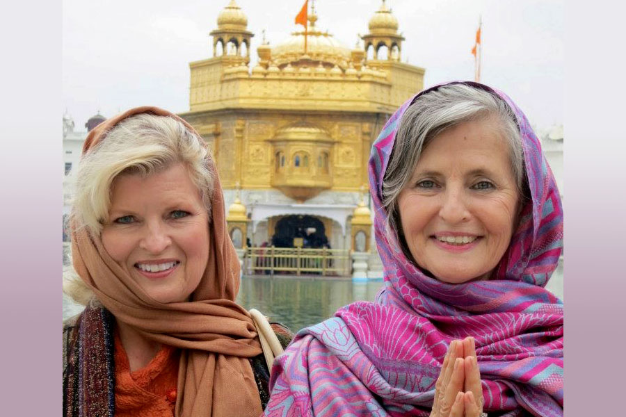 With Rev. Susan Sims Smith at the Golden Temple, Amritsar, India, 2012