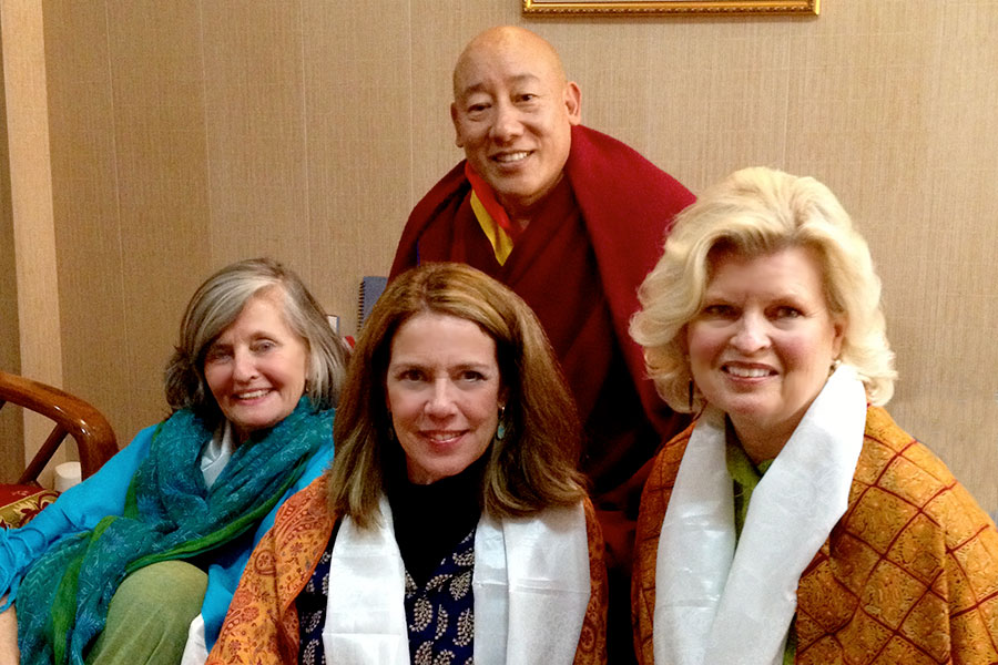 With The Oracle of Tibet, Kuten La, and Rev. Susan Sims Smith, and Patti Bailey, Dharmsala, India, 2012