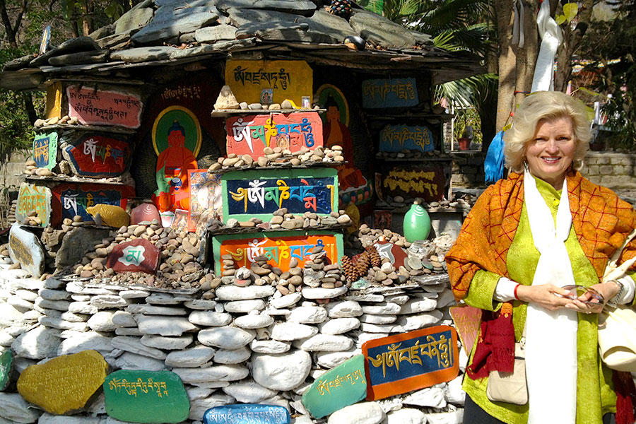 At a shrine in Dharmsala, India, 2012