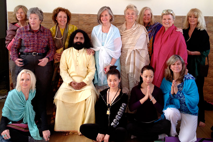 Our group of physicians and therapists visiting with the guru in Rishikesh, India, 2013