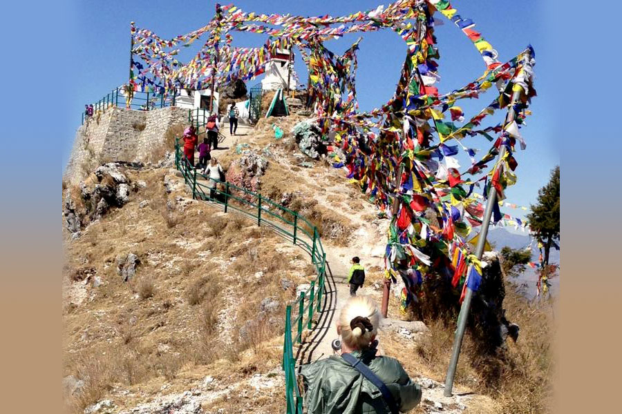 We have climbed to about 9,000 feet to hang prayer flags, 2013