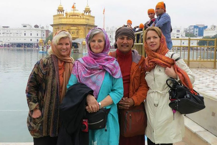 With Rev. Susan Sims Smith, Lama Tenzin Choegyal and Patti Bailey at the Golden Temple, Amritsar, India, 2013