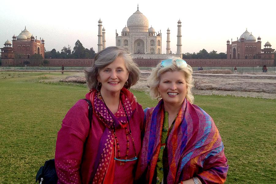 With the Rev. Susan Sims Smith at the Taj Mahal, Agra, India, 2012