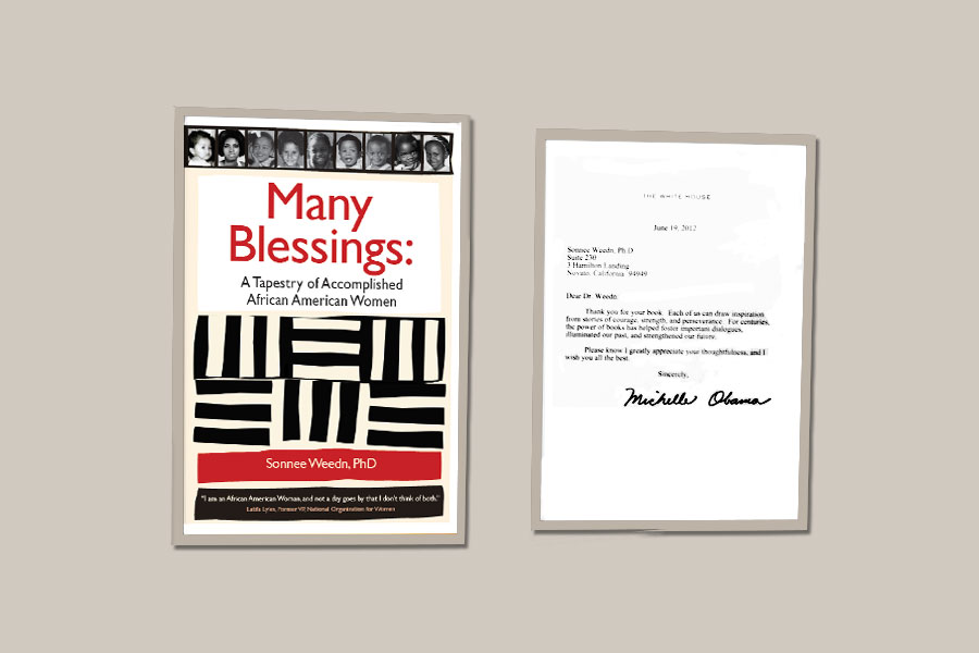 """Thank-you note from Michelle Obama for my book """"Many Blessings: A Tapestry of Accomplished African American Women."""""""