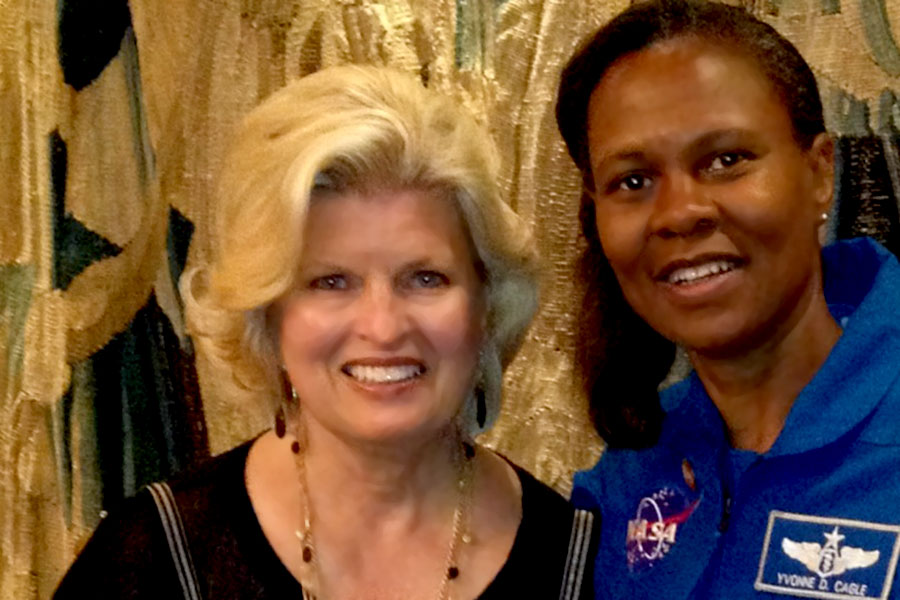 With Col. Yvonne Cagle, M.D. at Innovators luncheon, Newport Beach, CA 2014