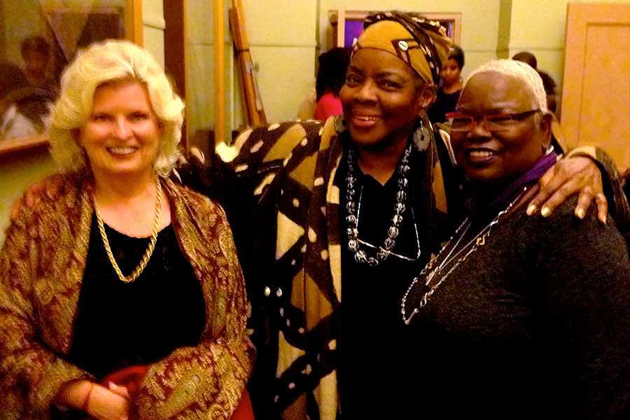 With Luisah Teish and Dr. Ysaye Barnwell backstage at Alvin Ailey American Dance Theatre, Berkeley, CA, 2013
