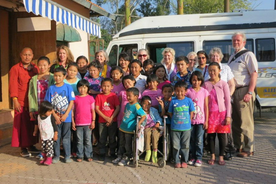 A group of physicians and therapists visited Lama Tenzin Choegyal's orphanage, The CED House, in Dehradun, India 2014