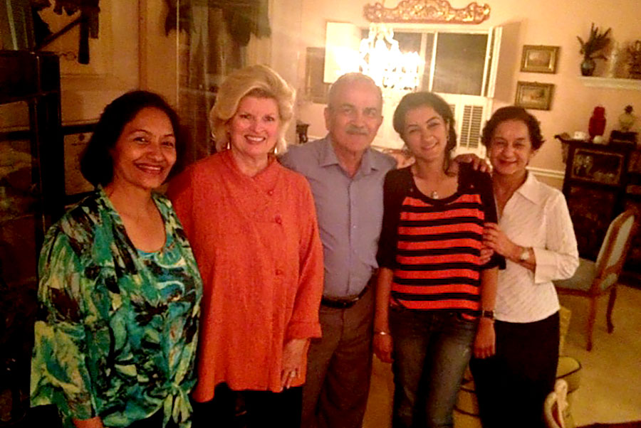 Dr. Vinay Rai, Chief of Staff of the charity hospital in Dehradun, India brought his family for dinner with us. 2014