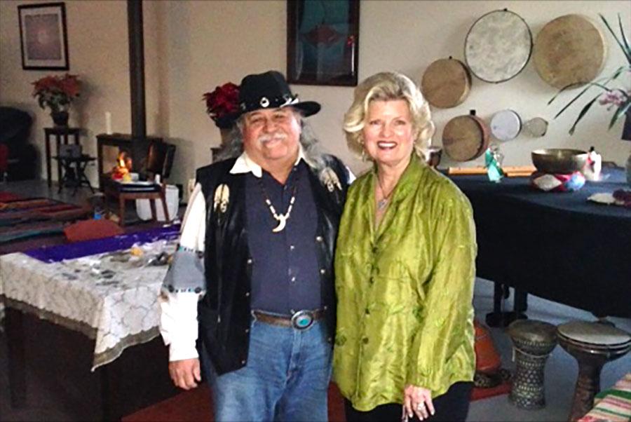 Yaqui Medicine Man, Lench Archuleta at the spiritual retreat to make personal medicine bags, 2014
