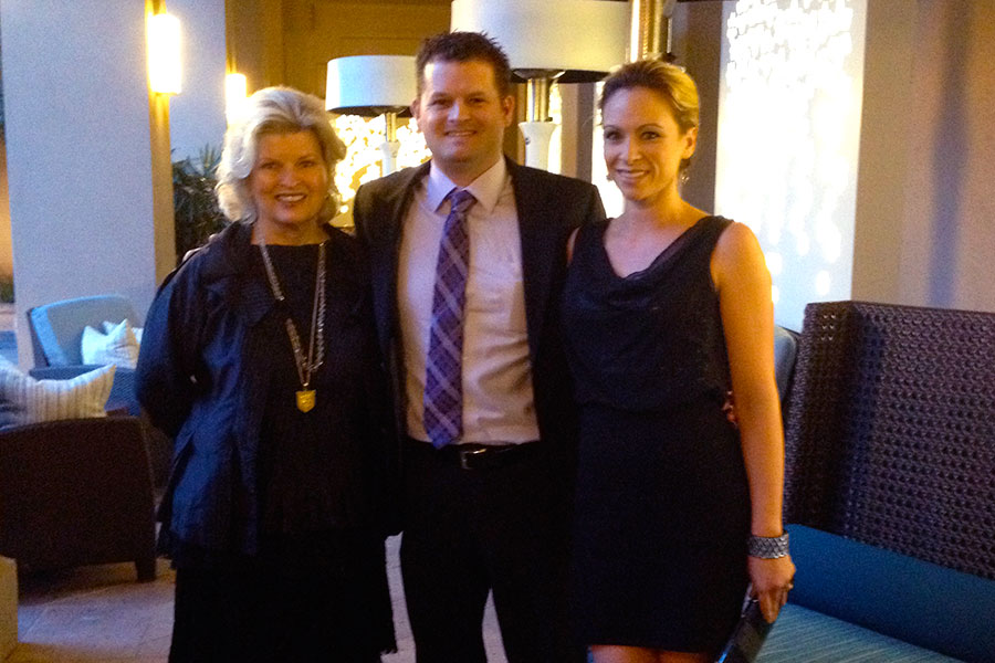 With Isaiah and Dr. Angela Weedn at Promises 25th Anniversary Dinner, Marina del Rey, 2014