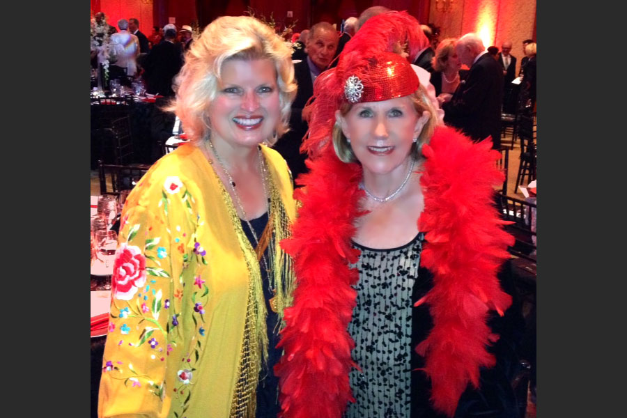 Sonnee and Janet Ray at the Options dinner benefitting victims of domestic violence, Balboa Bay Club and Resort, 2014