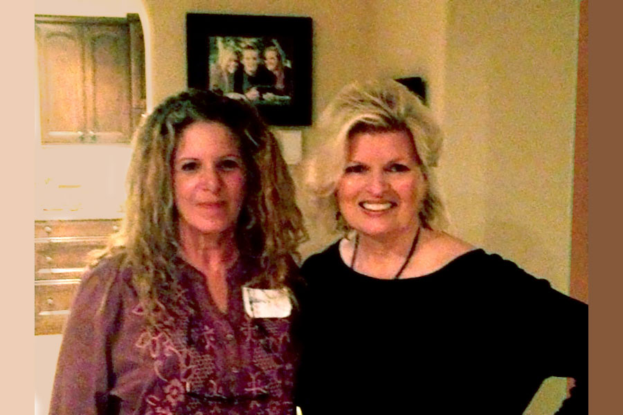Dr. Nancy Sobel and Sonnee at benefit for CED House orphanage, Newport Coast, CA, 2013