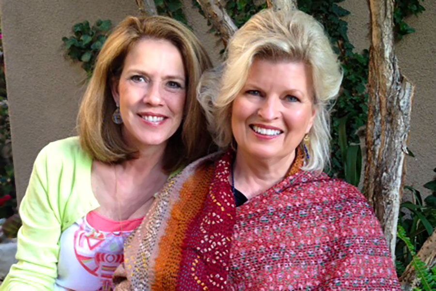 With Patti Bailey at fund-raising event in Newport Coast for Lama Tenzin Choegyal's CED House orphanage